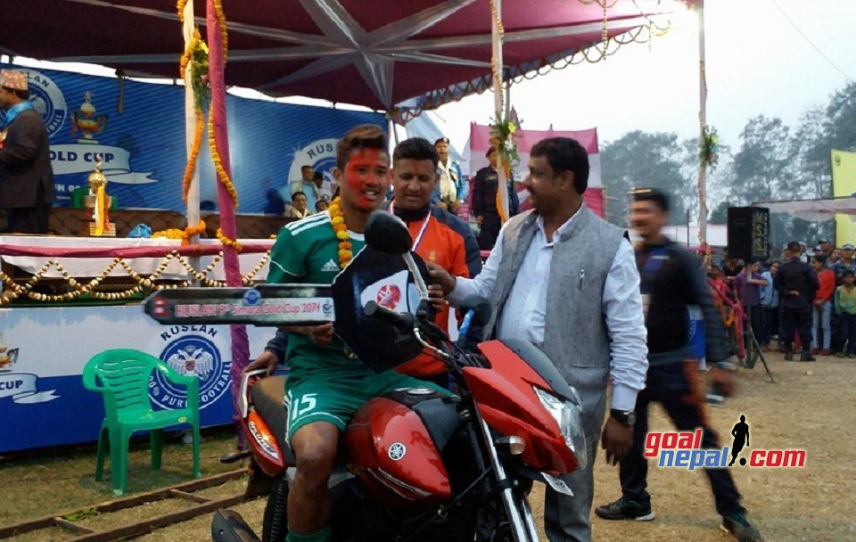 Dinesh Henjan Adjudged The Most Valuable Player; Receives One Motorbike