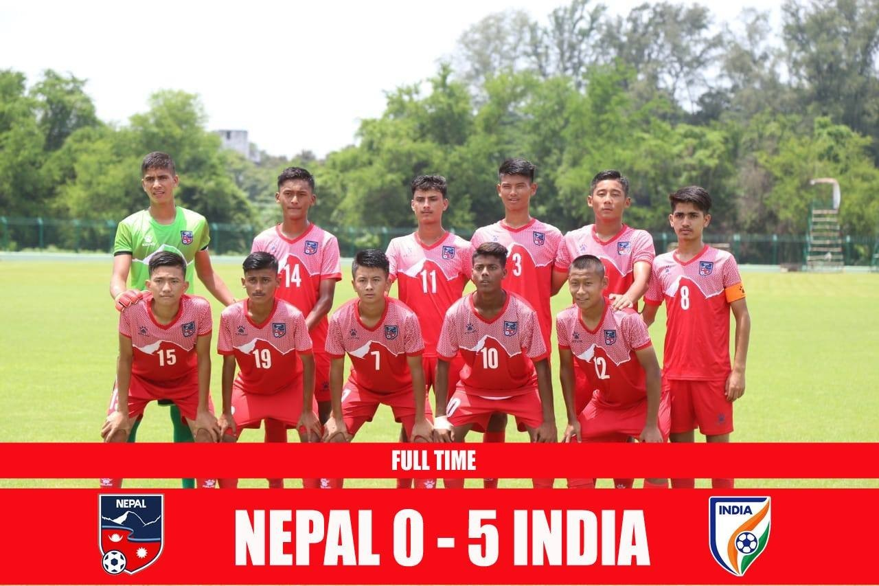 Clueless Nepal U15 Suffers Humiliating Defeat At The Hands Of India U15