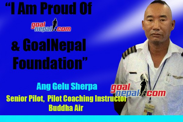Senior Pilot Ang Gelu Sherpa Donates Footballs To Panchthar Club & Baklauri Girls Team Through GoalNepal Foundation