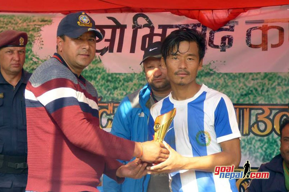 Tanahun: Hattrick Hero Karna Limbu Guides Jalthal FC Jhapa To SFs Of Bhimad Cup