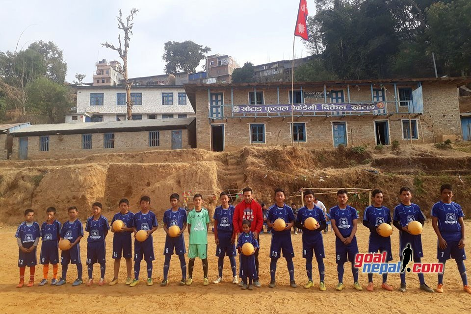 GoalNepal Foundation Donates 10 Indestructible Footballs, Jersey Sets To Khotang Football Academy