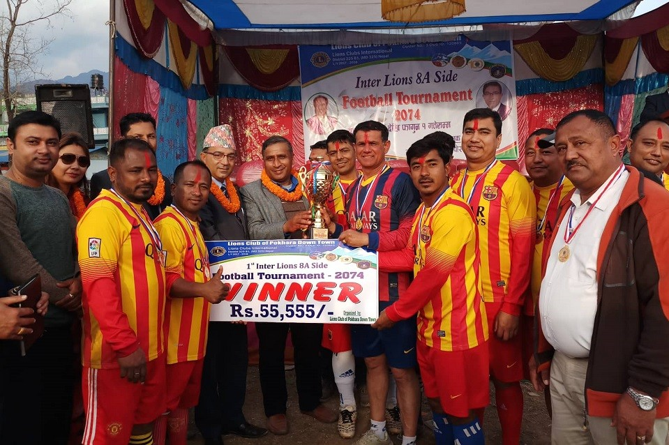 Kaski: Hemja Lions Win Title Of Inter Lions 8-A-Side Championship