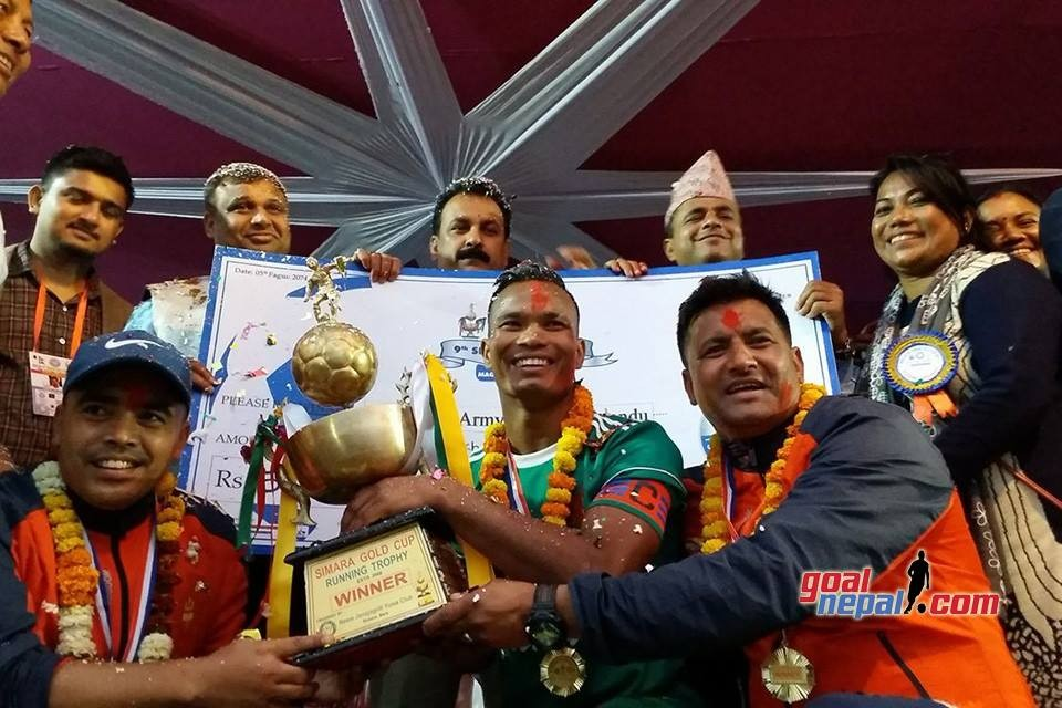 Nepal Army Wins Title Of Ruslan 9th Simara Gold Cup