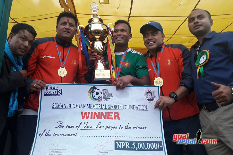 Nepal Army Wins Title Of 3rd Hetauda Gold Cup