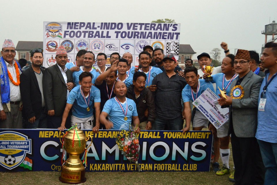 Jhapa: Birtamod United Lifts Title Of Nepal-Indo Veterans Football Championship