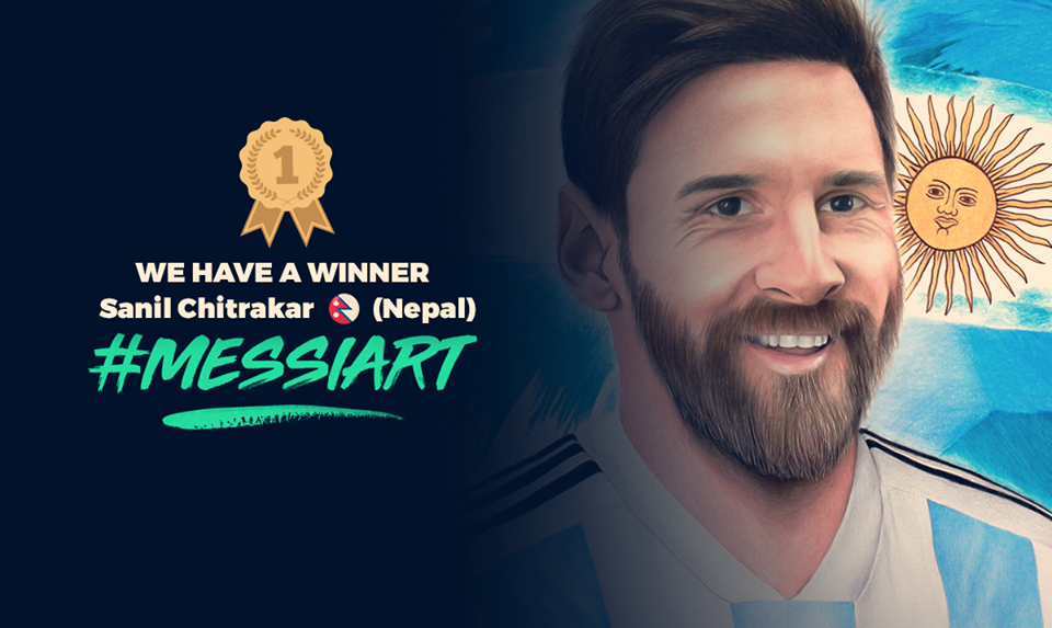 Nepali Artist Sanil Chitrakar Wins #MessiArt Contest