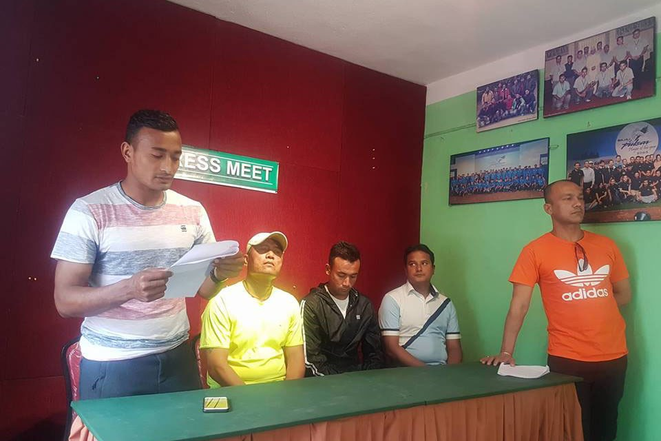 Nepal National Team Players, All Nepal Football Players' Association Urge ANFA To Announce Date Of Election Soon
