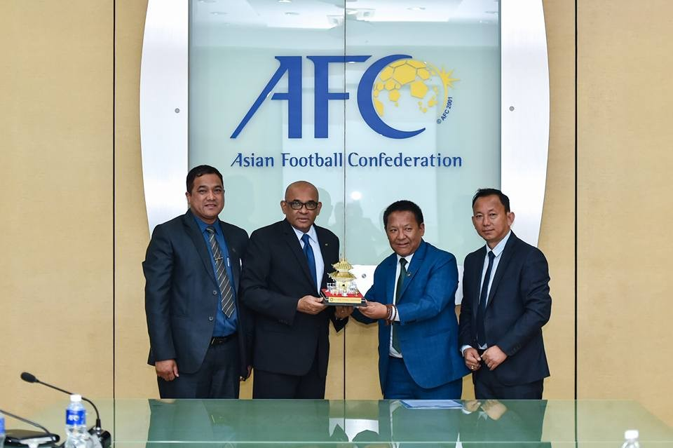 ANFA Officials Meet AFC General Secy At AFC HQ In KL, Malaysia