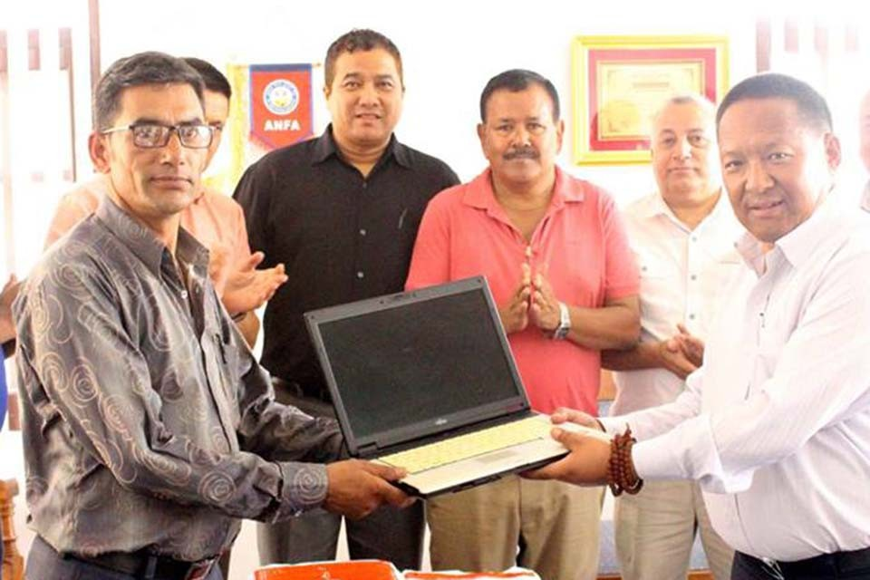 AFC Provides 14 Laptops To Seti Devi Secondary School, Sindhupalchowk