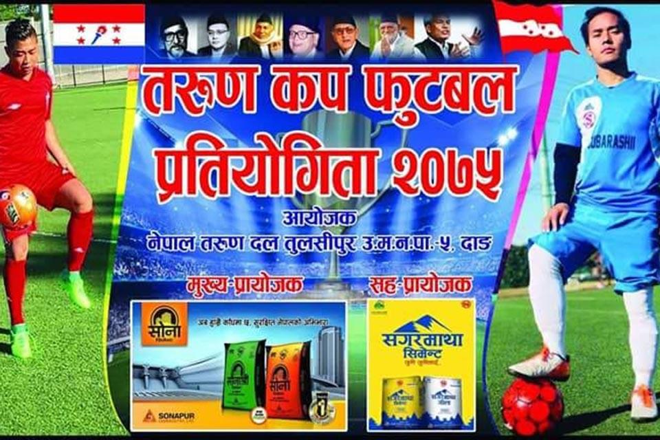 Dang: Tarun Cup Football Championship In Tulsipur