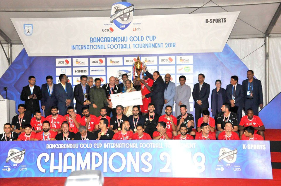 Palestine Wins Title Of Bangabandhu Gold Cup