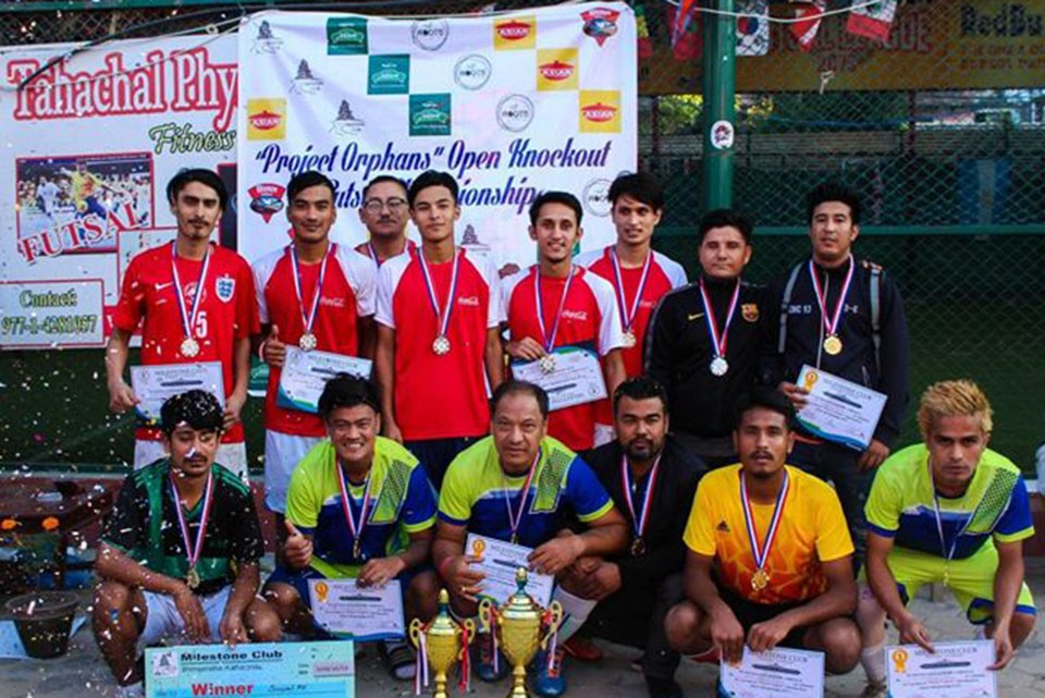 Kathmandu: Suwal FC Wins Title Of Project Orphans Open Knockout Futsal Championship