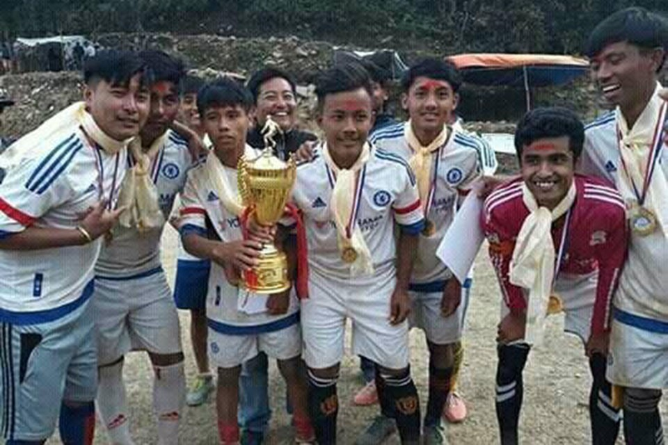Gorkha: Khoplang FC Wins Title Of Gaira Cup Football Championship