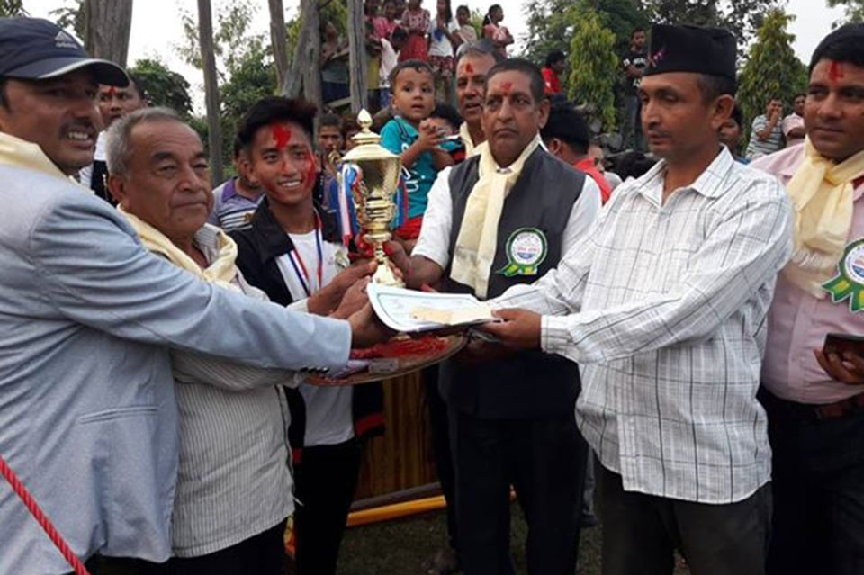 Sunsari: Saptakoshi Youth Club Wins Title Of 2nd Hariyali Cup
