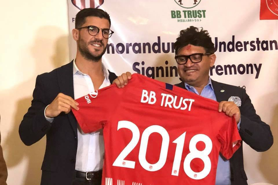 Atletico Madrid Joins Hands With BB Trust To Support Nepalese Football