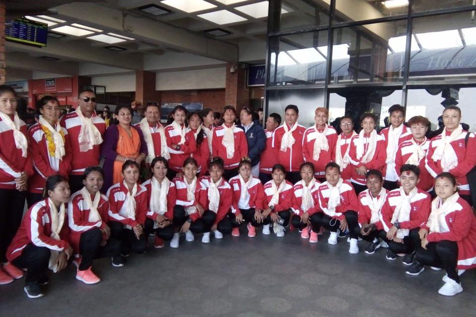 Nepal U19 Women's Team Flies To Bangkok, Thailand