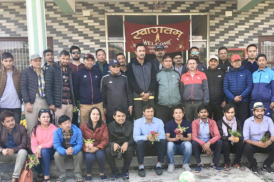 Nepal Cricket Team Skipper Paras Khadka Visits Sahara Football Academy