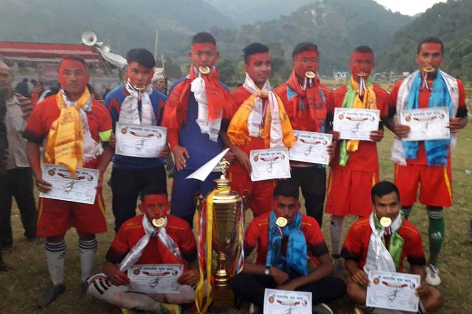 Lamjung: Koiralaphant Yuba Clubs Wins Title Of 2nd Khatritithi Running Shield