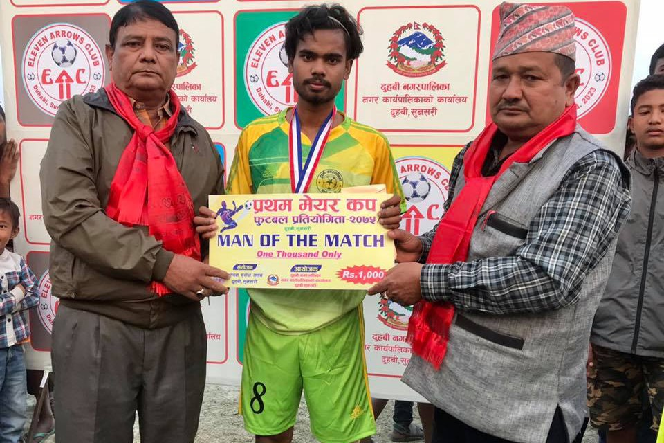 Sunsari: Ward Number 4 Enters QFs Of 1st Duhabi Mayor Cup