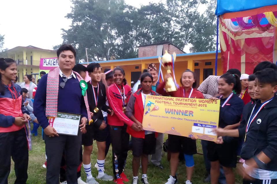 Sunsari: United Girls Darjeeling Clinches Title Of 3rd Invitational Women's Championship