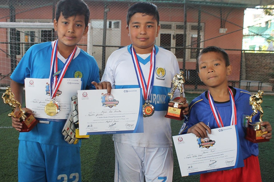 Kathmandu: Swopna Batika Wins Title Of Inter School Futsal Championsip