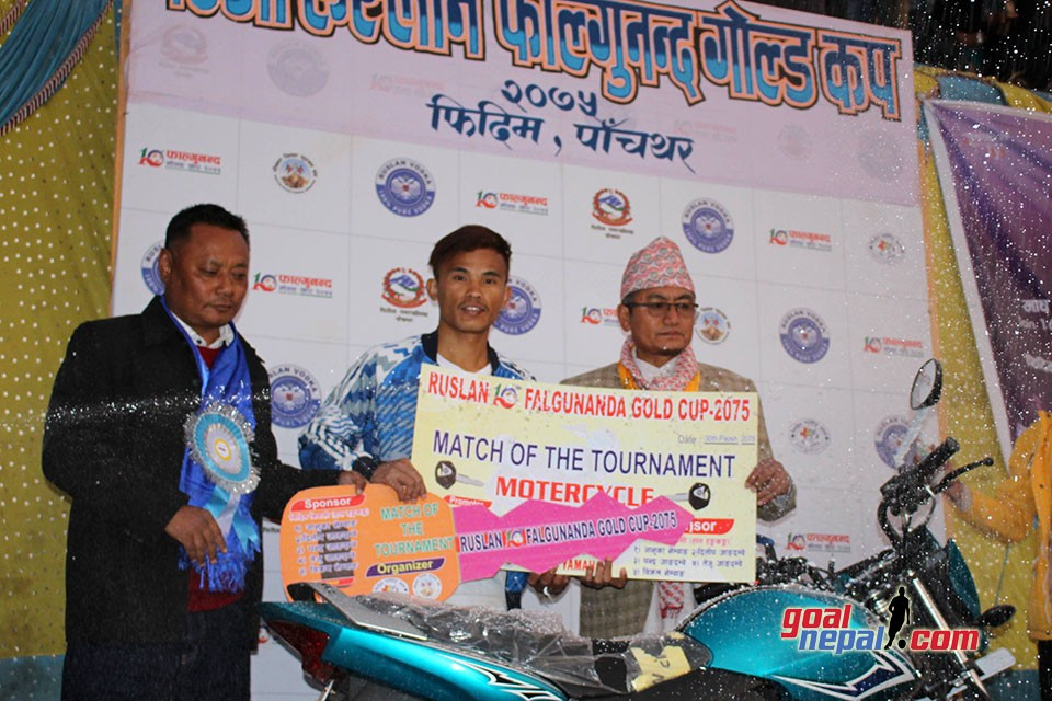 Ruslan 10th Falgunanda Gold Cup: Devendra Tamang Adjudged MVP Of The Tournament