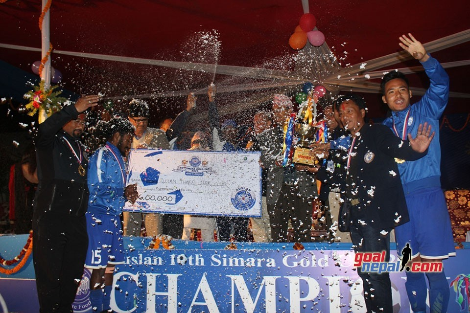 Ruslan 10th Simara Gold Cup :  Ruslan Three Star Club Beats Defending Champions Nepal Army To Win The Title