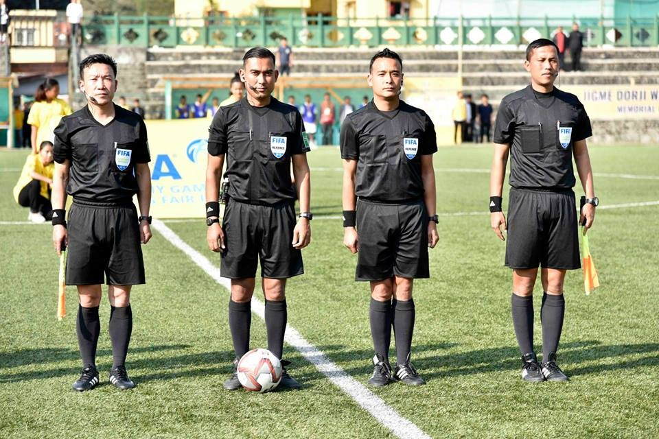 Nepalese FIFA Refereees Conduct Opening Match Of Jigme Dorji Wangchuk Gold Cup