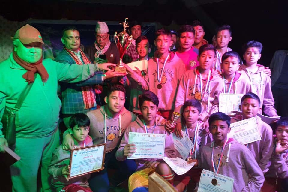 Gorkha: Daffodil School Wins Title Of U13 Football Fest