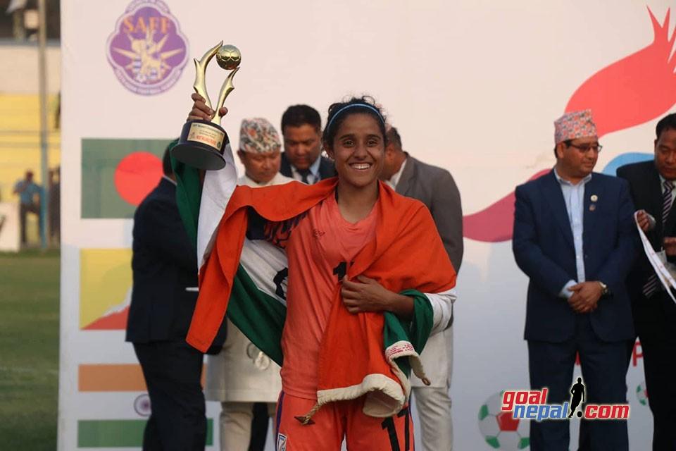 SAFF Women's Championship 2019: Dalima Chhibber Gets MVP Award