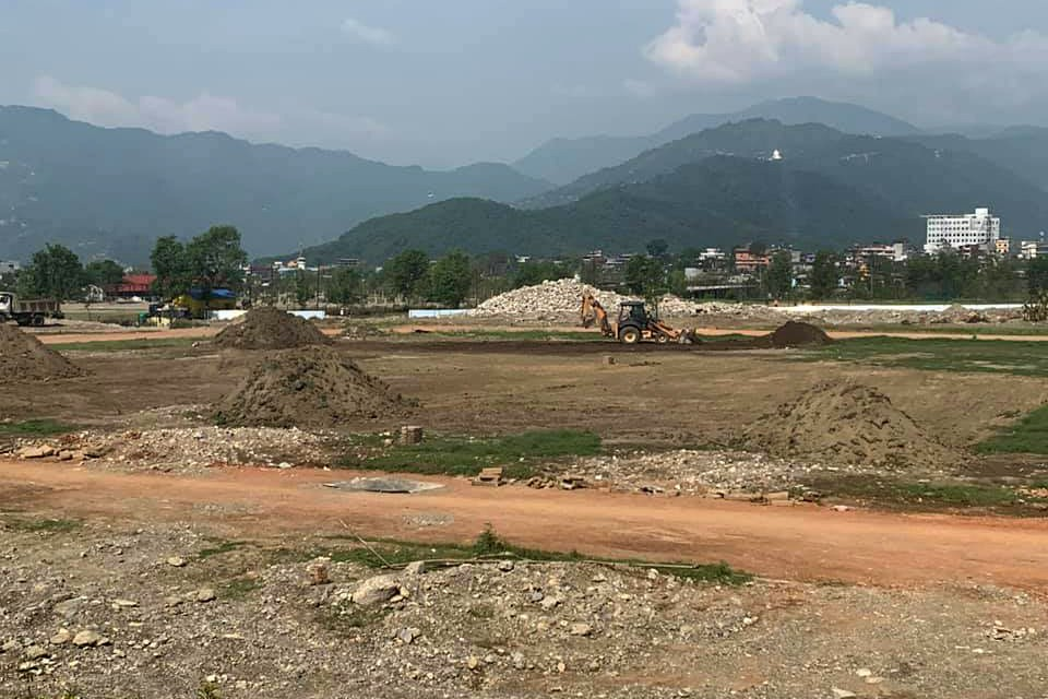 Kaski: Pokhara Stadium Construction Yet To Gain Pace !