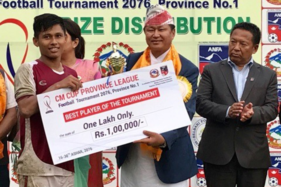 Bhusan Subba Adjudged MVP; Receives Nrs 1 Lakh