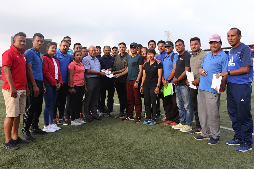 Referees Provide Monetary Assistance To Padam Bahadur Bhujel
