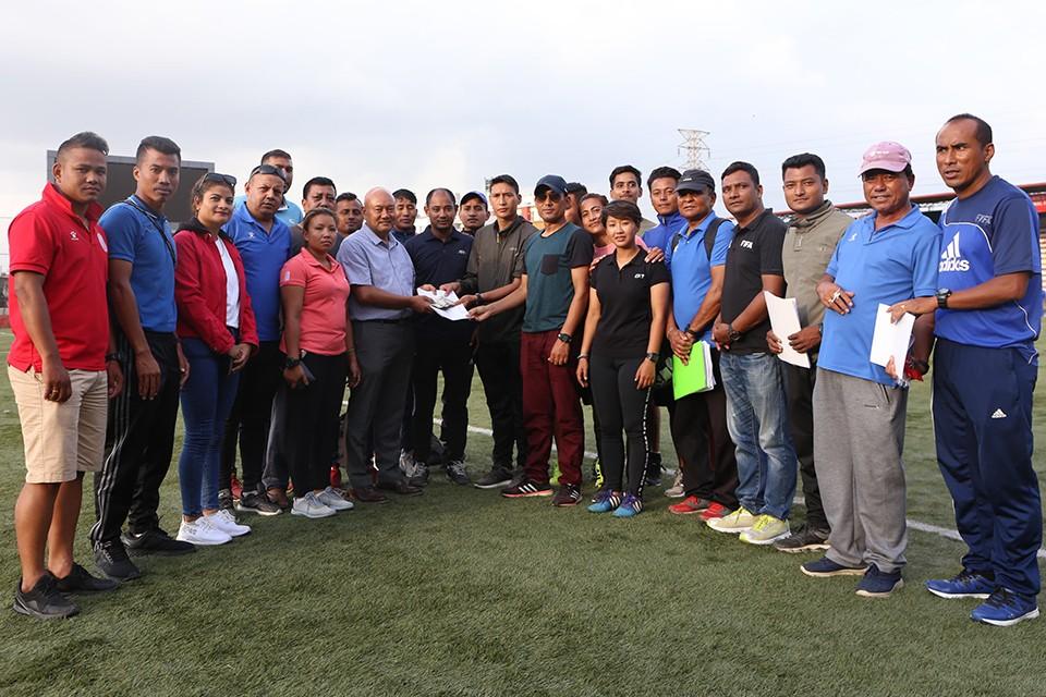 Referees Provide Monetary Assistance To Padam Bahadur Bhujel