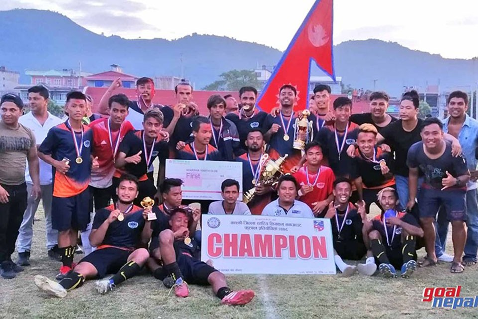 Adarsha Yuwa Club Wins Title Of Balram KC Memorial Kaski District League