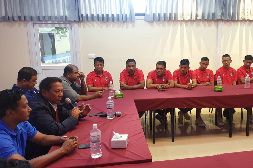 ANFA Officials Wish Good Luck To Nepal U18 Team