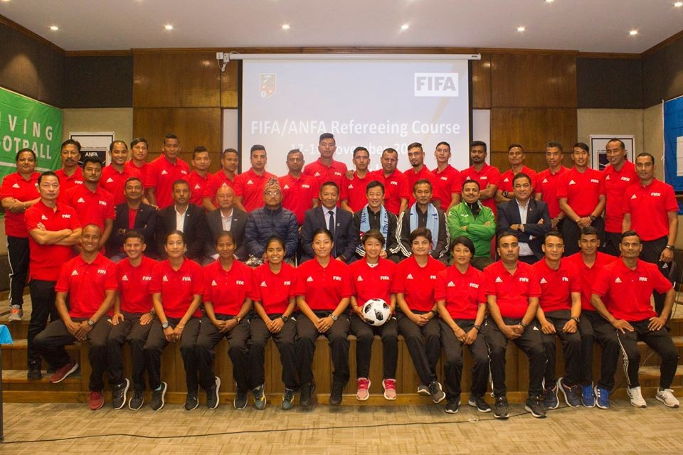 Lalitpur: FIFA/ANFA Refereeing Course Begins