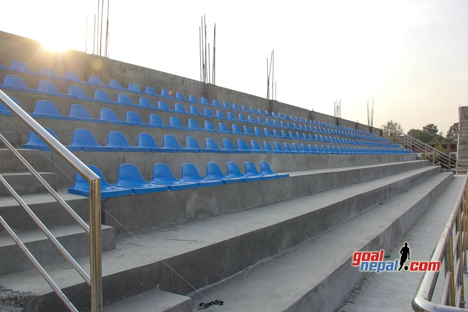 Seats Installation Begins At Chyasal Stadium - PICTORIAL