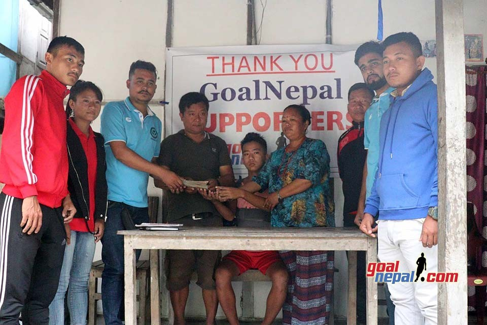 GoalNepal Supporters Hand Over Nrs 4,66,129 To Prajwal Rai - Medical Bill COVERED !