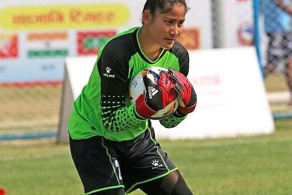 Nepal Women's Team Goalie Usha Nath Plays Debut Match For Nepal