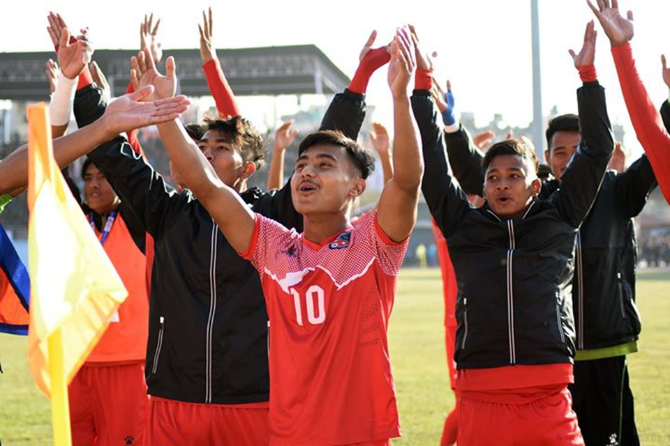 Nepal Olympic Side Performs Viking Thunder Clap For The First Time At Dasharath Stadium - VIDEO