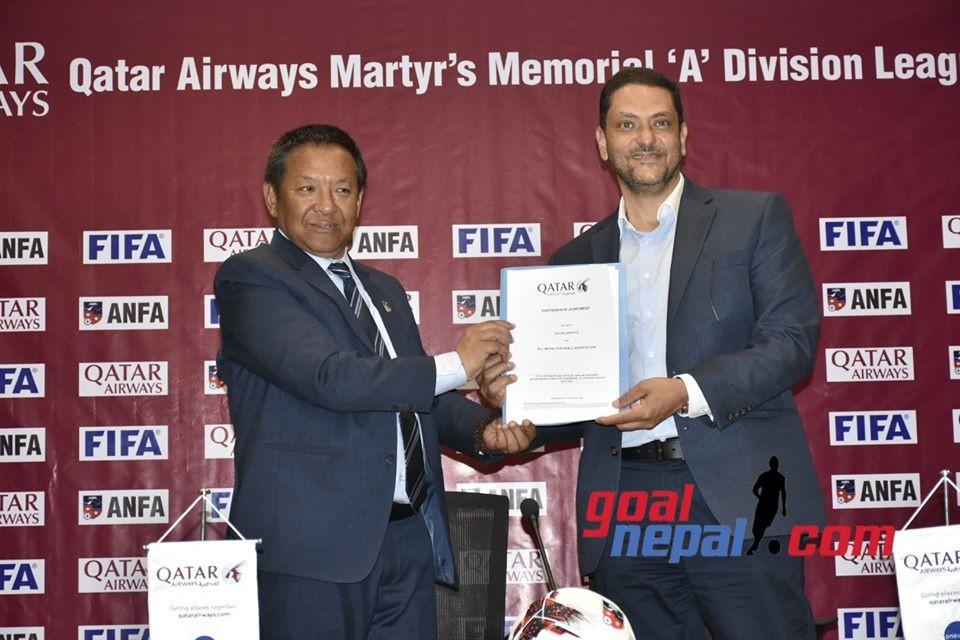 Qatar Airways Sponsors Nepal A Division League Worth USD 1,50,000 !