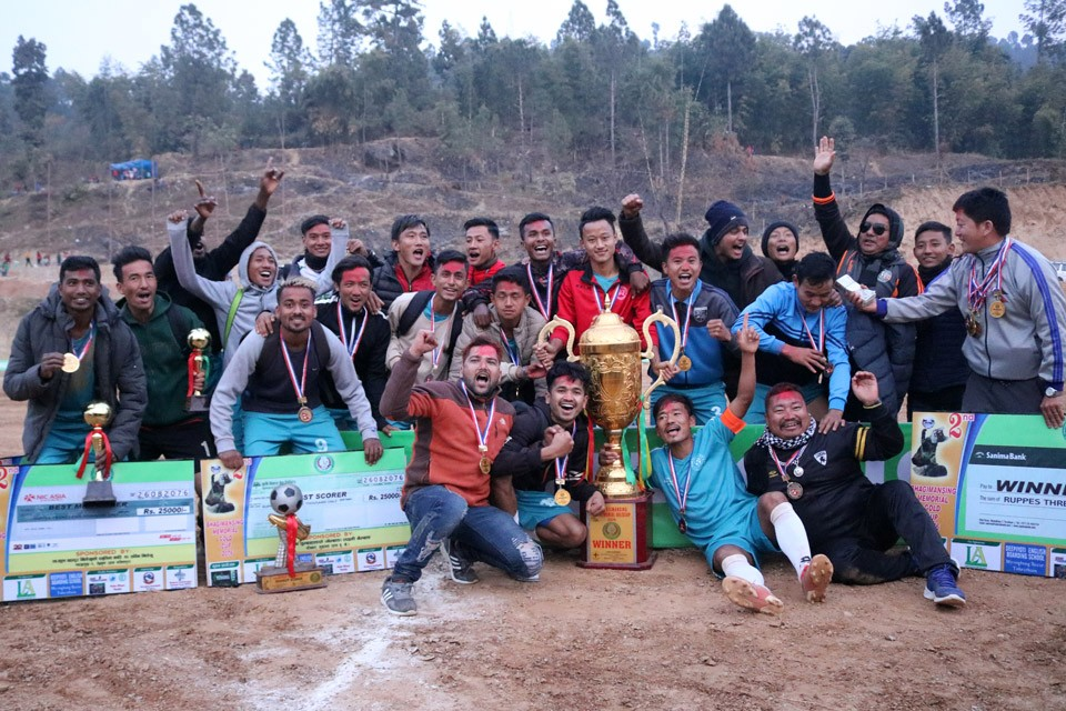 Terahthum: Jalthal FC Wins Title Of 2nd Bhagiman Sing Memorial Gold Cup