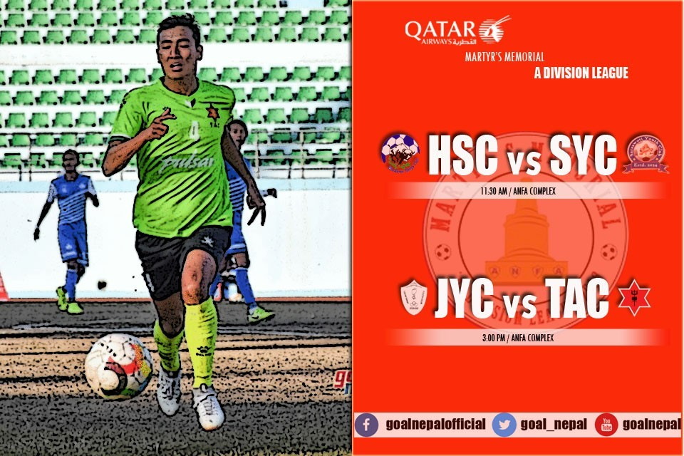 Martyr's Memorial A Division League: JYC Vs Tribhuwan Army Club - LIVE