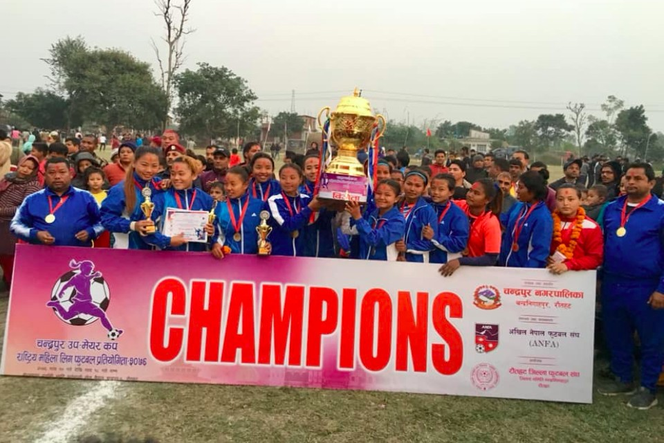 Hosts Chandrapur Wins Title Of Dy Mayor Women's Championship