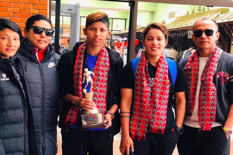 Nepal Internationals Return Home From India
