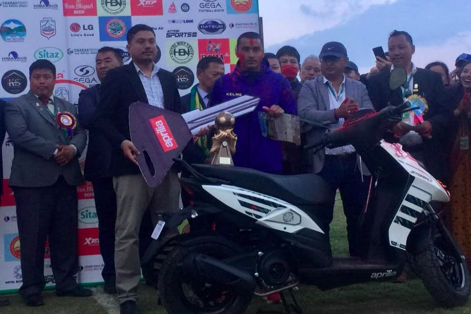 Ajit Bhandari Adjudged The MVP; Receives One Scooter