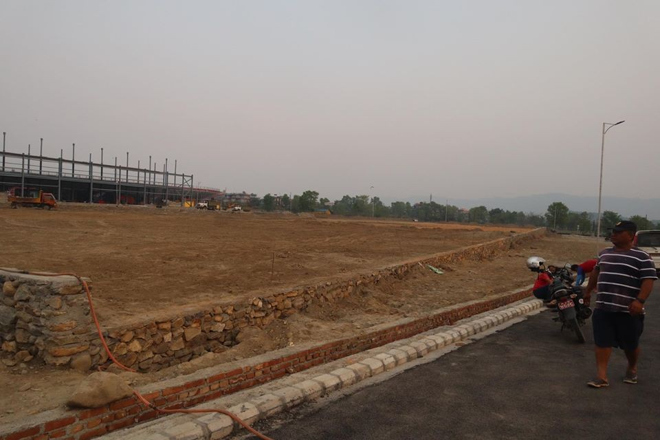 NSC Constructing Practice Field At Pokhara Sports Complex During Lockdown