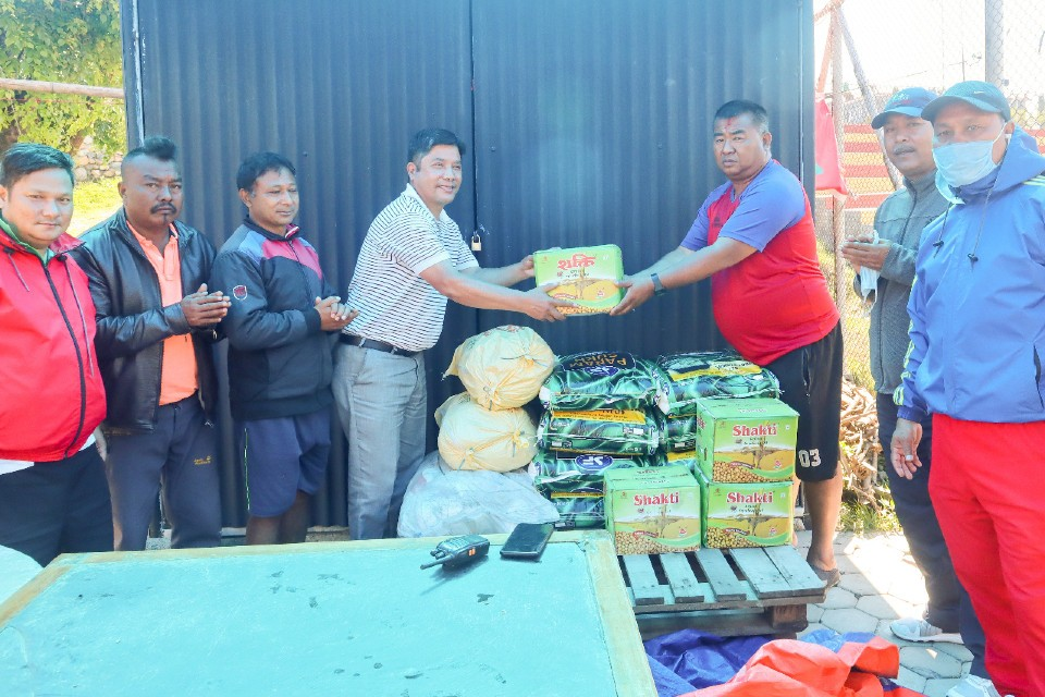 Kaski: MLA Chandra Mohan Gauchan Provides Relief To Workers At Pokhara Stadium