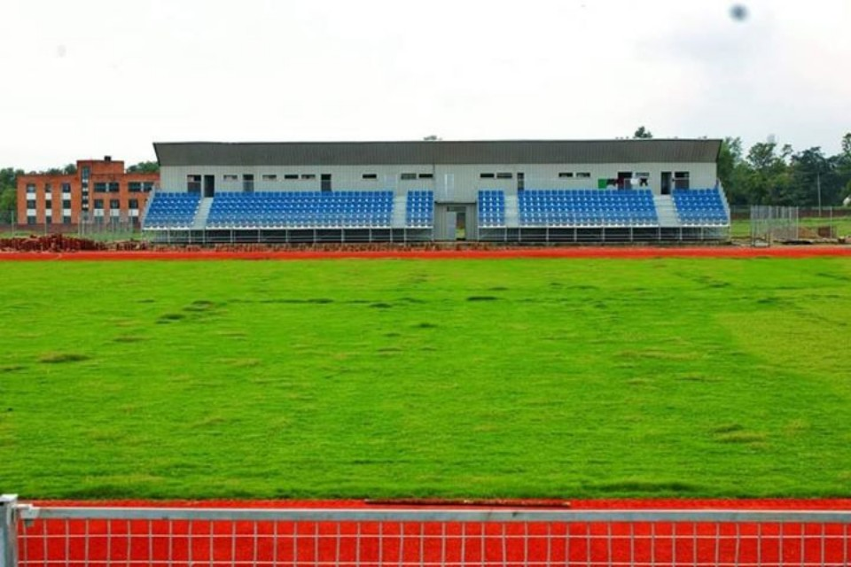 Dang: Fixing Grandstand Type Seats At Beljhundi Mini Stadium In Final Stage